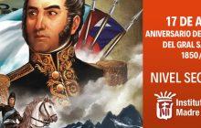 17 de agosto: Aniversario del fallecimiento del Gral. San Martín. 1850/2021.